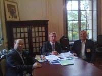 Prefeito Municipal e Presidende da Câmara Fazem visita Oficial ao Vice-governador.