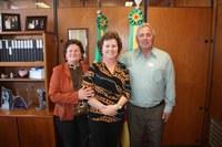 Presidente e vereadora encontraram-se com o vice-governador e deputada.
